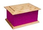 Ashes Casket Selection - Magenta Glitter