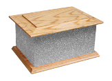 Ashes Casket Selection - Silver Glitter