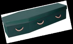 Eco Friendly Range - Woodland Green Cardboard Coffin